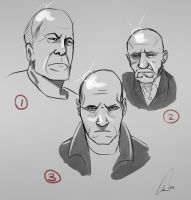 Bad ass bald guy committee by EricuchoValiente