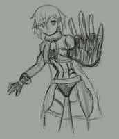Shinon Digital Rough Sketch by mikey4realz
