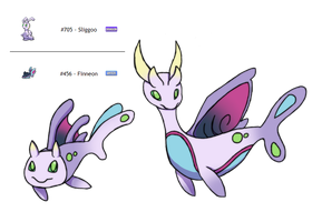 Fakemon Fusion Dragon/Water by Eternity9