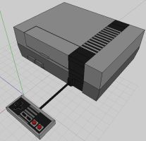 3D NES by t2thefox