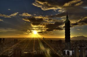 Taipei Sunset I by pacmangeek
