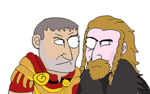 Ulfric And Tullius by YsmirStormcrown