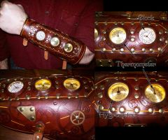 Steampunk Bracer with Gauges 2 by Steampunked-Out