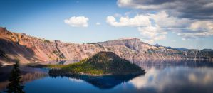Crater Lake - Wizard Island by Daystorm