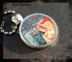 ZOMBIES Old Monster Movie Poster Pendant by kelleejm1