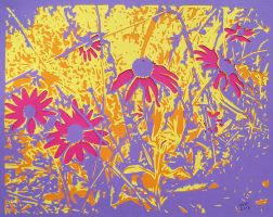 Floral Fireworks Purple Small by rschuch