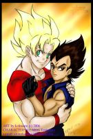 SSJGoku and Vegeta ++request++ by k-tiraam