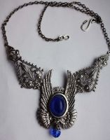 Angel's wings blue necklace by Pinkabsinthe