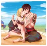 FFXIV Commission: Costa del sol kiss by Chiichanny