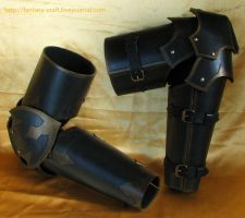 leather plate  arm by Fantasy-Craft