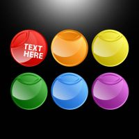 Glossy Buttons by etikau