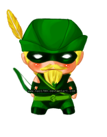 Green Arrow Chibi by nao1789