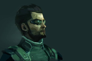 Adam Jensen - Speedpaint by fivetinsoldiers