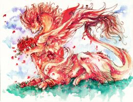 Roses dragon by Ravoilie