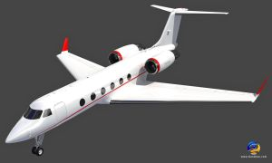 Gulfstream IV Private Jet Aircraft by Gandoza