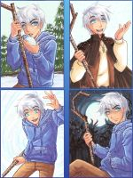 Frosty Jack Frost ACEO's by Aiko-Mustang