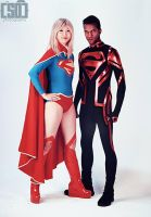 New 52 Superboy and Supergirl by supercatfish8