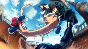 Luffy vs Dan by xong