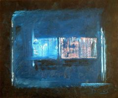 """""""Squares on Blue"""" by DarrenCarnall"""