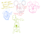 Disney Doodles!! by NiniCereceda