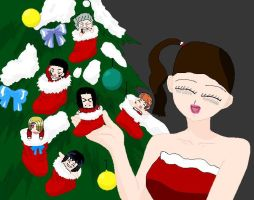 Merry Christmas from ONE PIECE by ABURAMEFANFOREVER