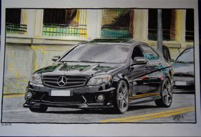 Mercedes Benz C63 AMG Colored Draw by Osmancetinyapici