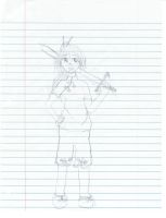 Sketch++Chinese Girl by Mehness