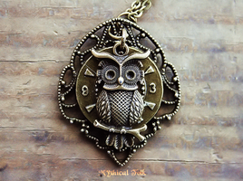 Steampunk Owl Clock by MythicalFolk
