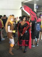 SacAnime Cosplay: Yang Xiao Long and Ruby Rose by wolfforce58