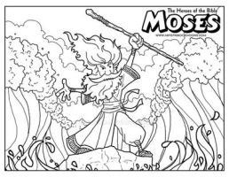 Moses Coloring Page by ArtistXero