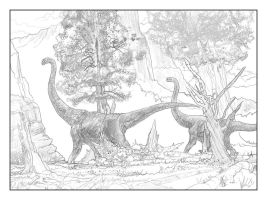 Jurassic Park Experiment_Fred + Ethel by Algoroth