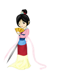 Princess Mulan by Checker-Bee