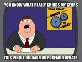 What I think of this Digimon vs Pokemon thing. by Jmk98