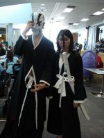2011 - Animethon18 - Rukia and Ichigo Cosplay by TatsukiIshida10