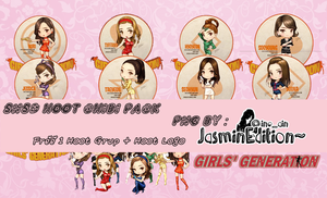 SNSD HOOT CHIBI by JasminEdition