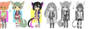 Adoptable Batch #//OPEN//PRICE LOWERED by 00M0scaD0mestica00