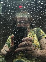 Self-Portrait in Raindrops by wiebkefesch
