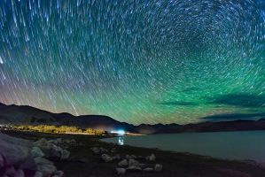 Magical Nights at Pangong Lake by nimitnigam