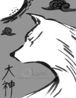 Sumi-e OKAMI by Sketchfighter316