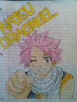 Natsu Dragneel - colored by Pikawolf11