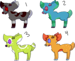 Tufted Deer Adoptables CLOSED by WaveMonster