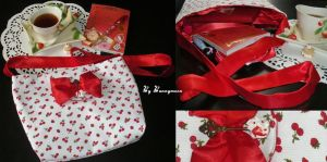 Cute cherry strawberry bag - decoden mini spoon by Bunnymoon-Cosplay