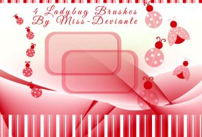 Lady Bug Brushes by Miss-deviantE