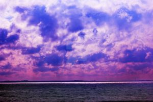 Looking Out To Sea Purple Sky by ZoeCoombesPhoto