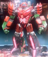 Fall of Cybertron: Roughhouse (Robot Mode) by Shadowspeed2020