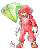 Come at me bro -Knuckles by Xhiara
