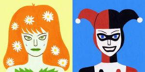 Poison Ivy and Harley Quinn by Teagle