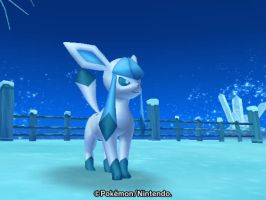 Glaceon in the artic scene by imthecutest1238