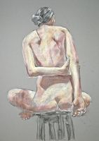 Nude on a Stool (Back) by runefroseth