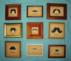 Mounted Mustache Collection by heather-blacklock